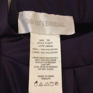 David's Bridal Dresses - NWT David's Bridal Bridesmaid Dress, Purple, 10